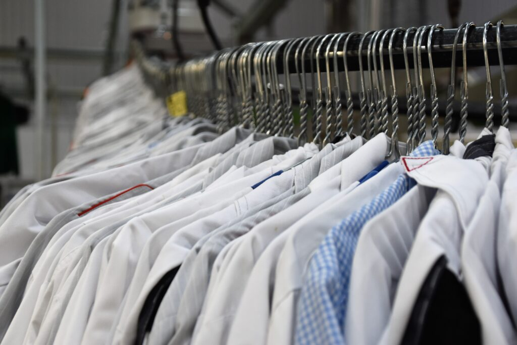 Clean shirts after processing. Credit: Waldemar Brandt
